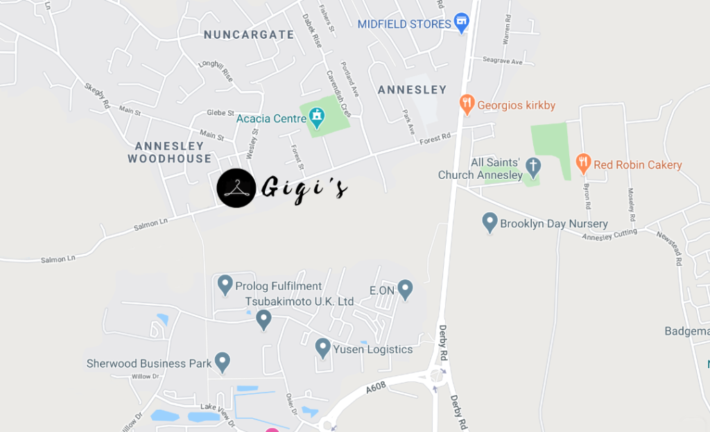 Get In Touch Map Gigi's Fashion, Forest Road, Annesley, Nottingham